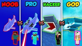 Minecraft NOOB vs. PRO vs. HACKER vs. GOD: SHARK in Minecraft! (Animation)