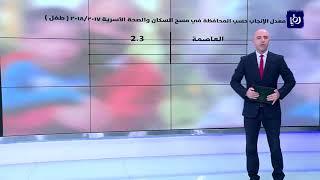 أبرز نتائج مسح السكان والصحة الأسرية في الأردن
