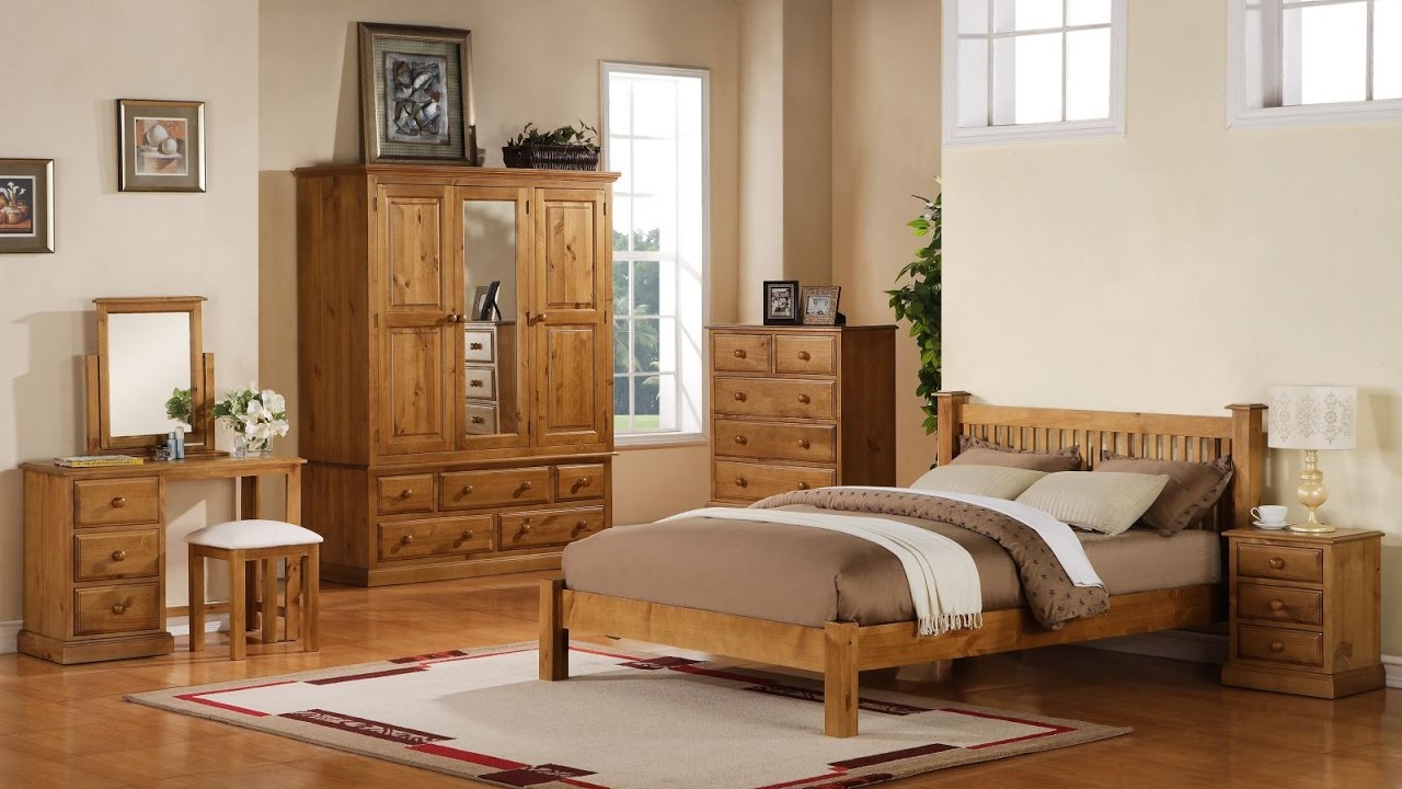 Bedroom Decorating Ideas With Pine Furniture pine bedroom furniture decorating ideas - youtube