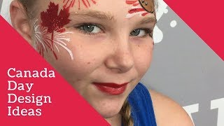 Canada Day Face Painting Design Ideas