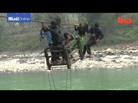 World's most dangerous school run A look at Nepal's river cross
