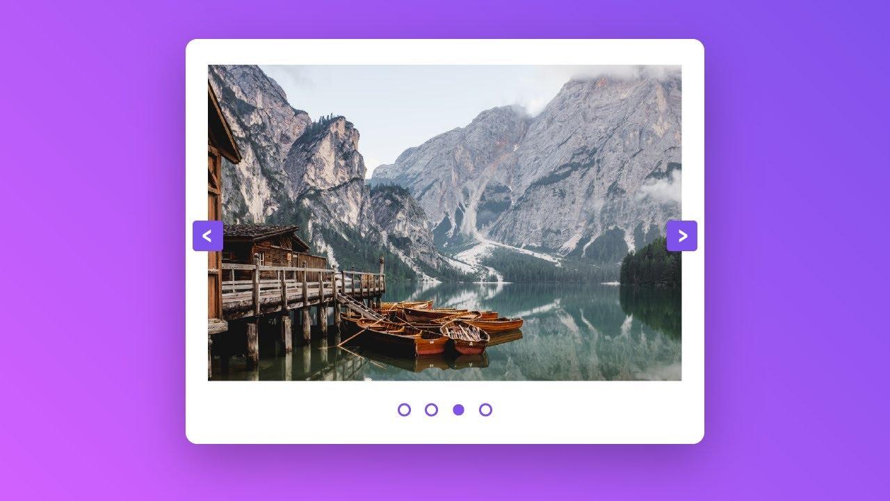 Responsive Image Slider | HTML, CSS & Javascript | With Source Code