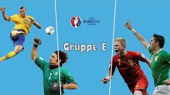 EM 2016 - Gruppe E - Analyse & Tipps - Belgien, Irland, Schweden, Italien
