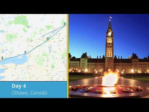 Tours4Fun Itinerary -  7 Day Canada East Tour: Toronto, Montreal, Ottawa, Quebec, Niagara Falls