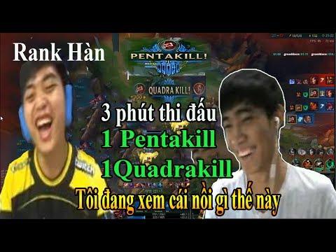 Dual Optimus - Levi ăn liền Quadrakill và Pentakill trong 3 phút thi đấu rank Hàn quá khủng khiếp