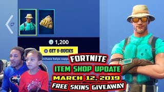 FORTNITE ITEM SHOP UPDATE *NEW* MARINO SKIN WITH BANANA BAG BACK BLING, DARK BOMBER - MARCH 12, 2019