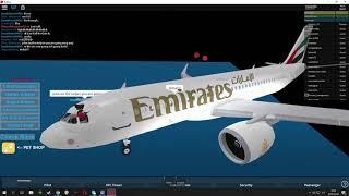 roblox emirates a320 NEO flight Doha to Dubai (Buisnes Class)