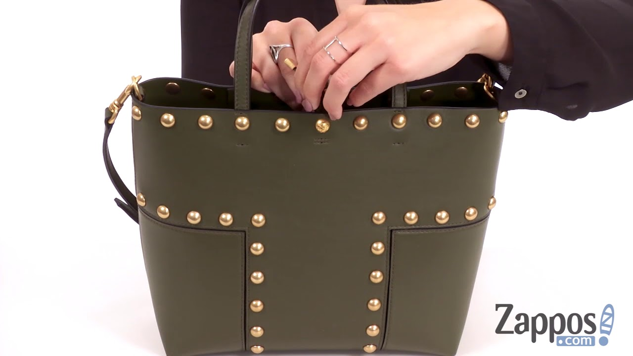 71183098e Tory Burch Block-T Stud Mini Tote SKU: 9024077 - YouTube