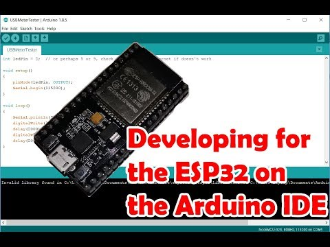 Programming an ESP32 with the Arduino IDE
