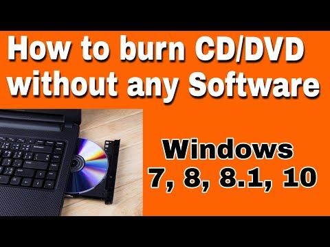 how to burn cd/dvd in window 7 in hindi
