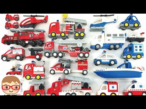 Emergency Vehicles for kids | Police Car, Fire Truck, Ambulance for children | toy car assembly