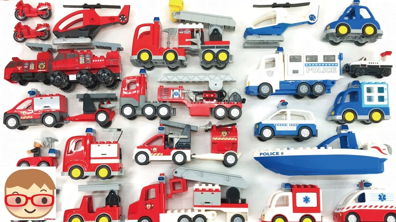 Emergency Vehicles For Kids Police Car Fire Truck Ambulance For