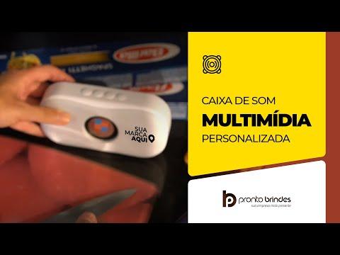 CAIXA DE SOM MULTIMIDIA 18544-001 PERSONALIZADA - PRONTO BRINDES - BRINDES CORPORATIVOS