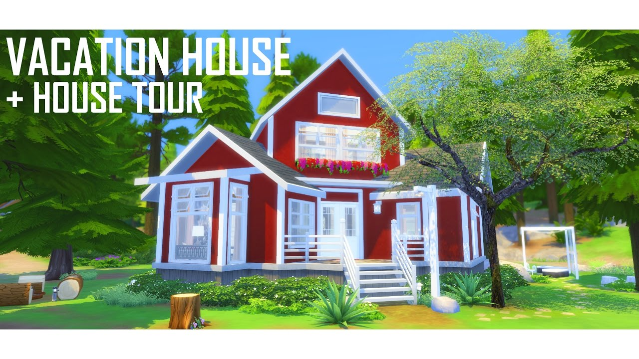 THE SIMS 4 | Vacation House BUILD | + House Tour - YouTube