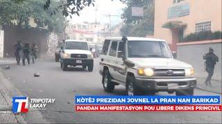 FLASH! Kotèj Prezidan Jovenel MOISE La Pran Nan Barikad Pandan Manif Pou Libere Diskens Yo Kidnape