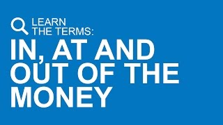 in the money at the money and out of the money options explained