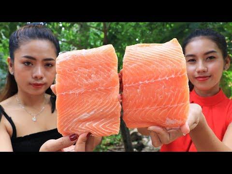 Yummy Cooking Salmon Fish Salad Recipe - Cooking Skill