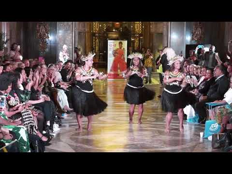 Kiribati UK Dance Group Performing at London Pacific Fashion
