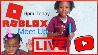OMG Zay and Zanai's 1st Roblox Live Meet-up Event. Playing Your Favorites