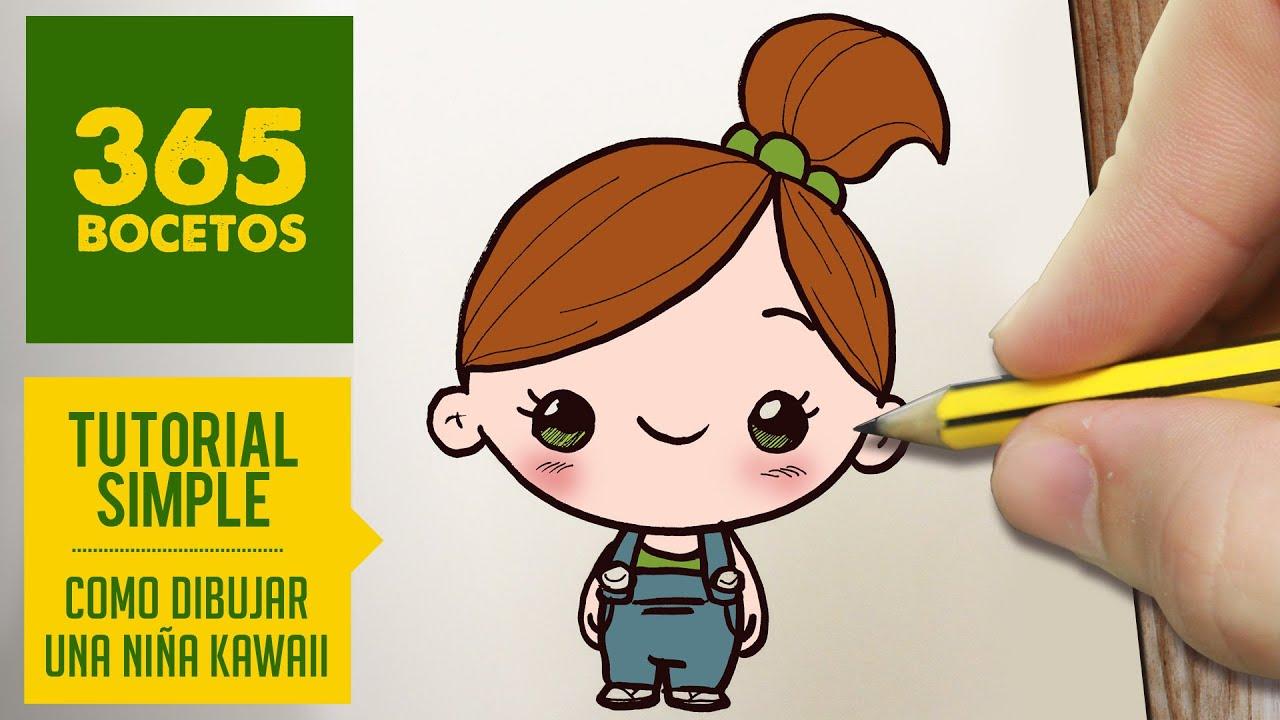 Como Dibujar Una Niña Kawaii Paso A Paso Dibujos Kawaii Faciles