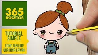 COMO DIBUJAR UNA NIÑA KAWAII PASO A PASO - Dibujos kawaii faciles - How to draw  a girl