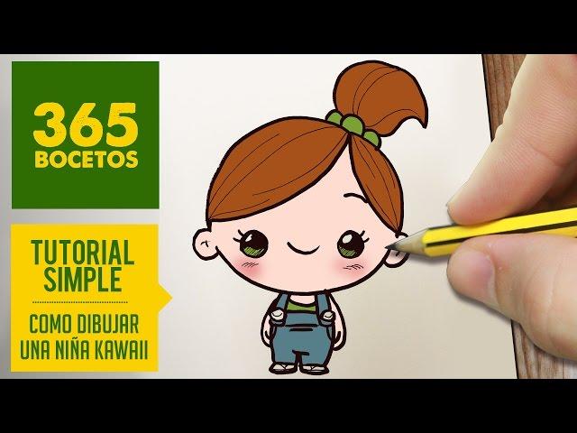 Como Dibujar Una Niña Kawaii Paso A Paso Dibujos Kawaii