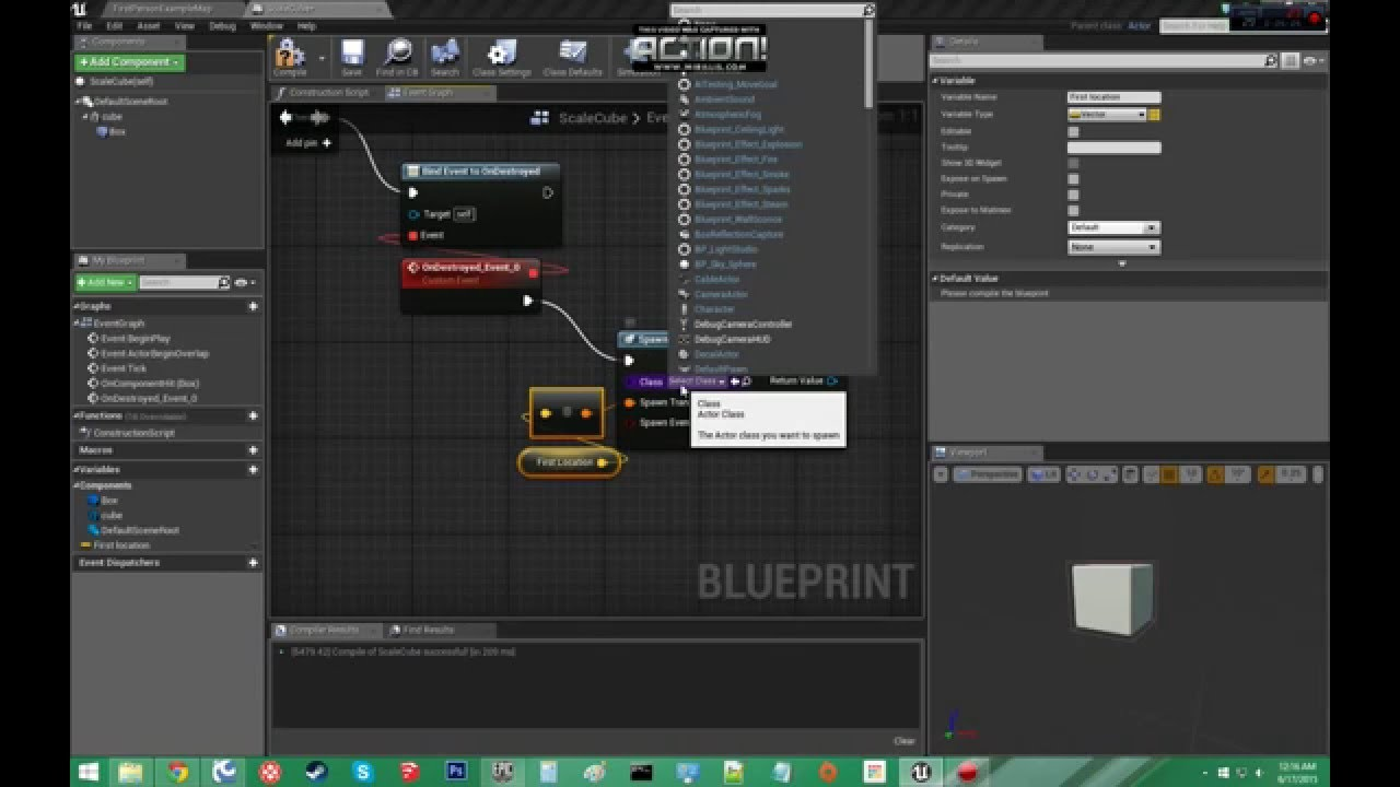 Tutorial Unreal Engine 4 Event Hit