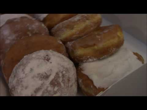 Fat Tuesday Paczki Raspberry Filled Doughnuts!! Food In Alpena Michigan 2017