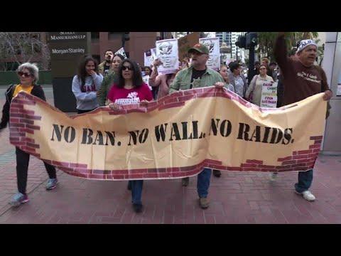 Protest in San Diego ahead of Trump's California trip