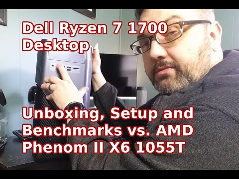 Unboxing and Setup of the Dell Inspiron Ryzen 7 1700 Desktop Model 5675