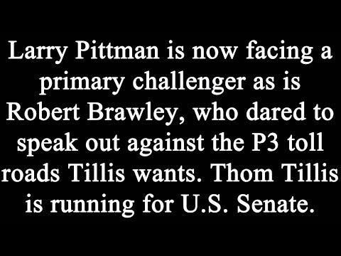 Thom Tillis: Primaries, Slamming Chairs, Toll Roads, and Big Boy Pants!