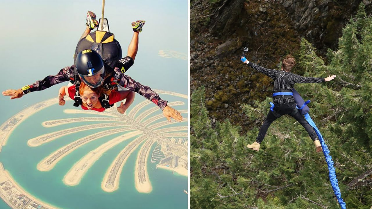SKY DIVING VS BUNGEE JUMPING [Vancouver, Canada]