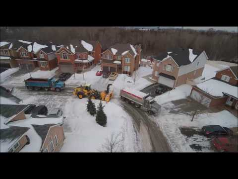 Snow Removal in Central Park - Ottawa Ontario