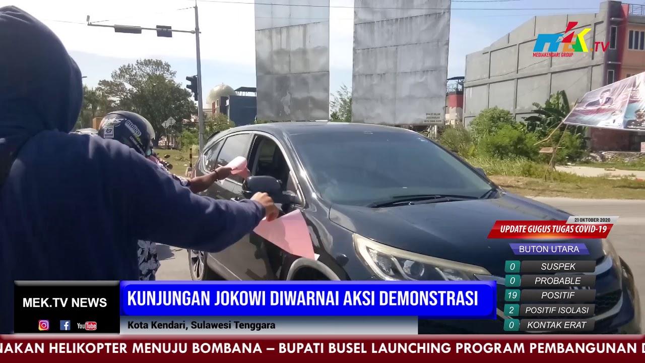 Kunjungan Jokowi Diwarnai Aksi Demonstrasi
