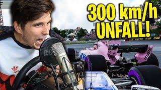 Unfall bei 300 KMH ☆ F1 2017 mit Lenkrad