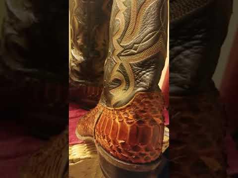 Justin Python boot restoration attempt