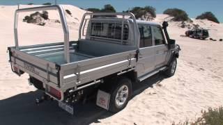 Toyota Landcruiser 70 series LC79 Double Cab and the Landcruiser 200 series GX - Track Test(Nick Underwood from Western 4WDriver reviews two new Toyota vehicles. The Landcruiser 70 series LC79 Double Cab and the Landcruiser 200 series GX., 2013-10-02T00:38:58.000Z)