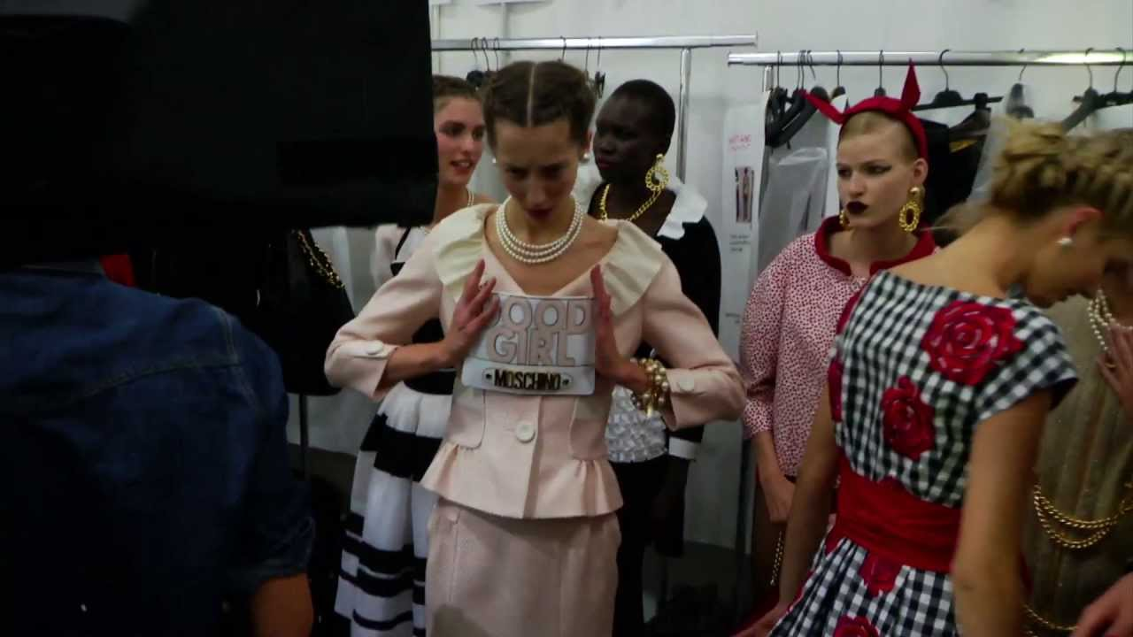 Moschino 30th anniversary - Behind the scenes at the Spring/Summer 2014 fashion show
