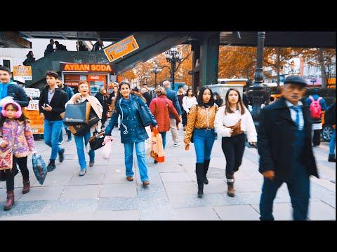 Kızılay Square Always Teem With People,Ankara,TURKEY in 4K