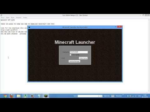 FREE MINECRAFT LAUNCHER TUTORIAL (AUTO UPDATER) 1.4.6 ...