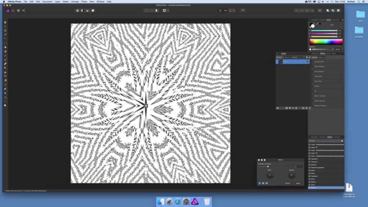 Affinity Photo and using mirror / deform to distort type (Intermediate)  tutorial
