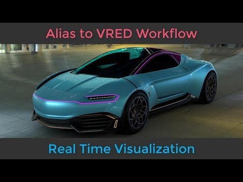 Alias to Vred for Real time Visualization and VR