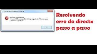 Resolvendo erro DirectX Dxerror