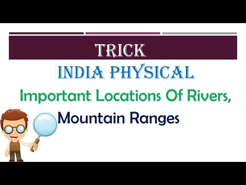 TRICK || India Physical Rivers, Mountain Ranges||