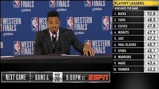 CJ McCollum postgame reaction | Warriors vs Blazers Game 3 | 2019 NBA Playoffs