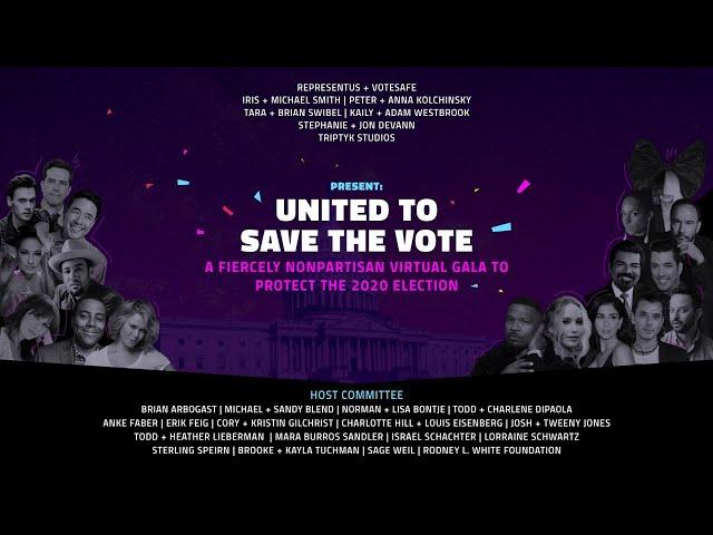 LIVESTREAM | RepresentUs - UNITED TO SAVE THE VOTE