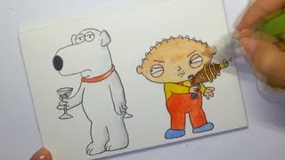 How to draw Stewie Griffin & Brian from Family Guy