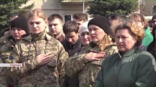 В Сватово провели в последний путь бойца АТО
