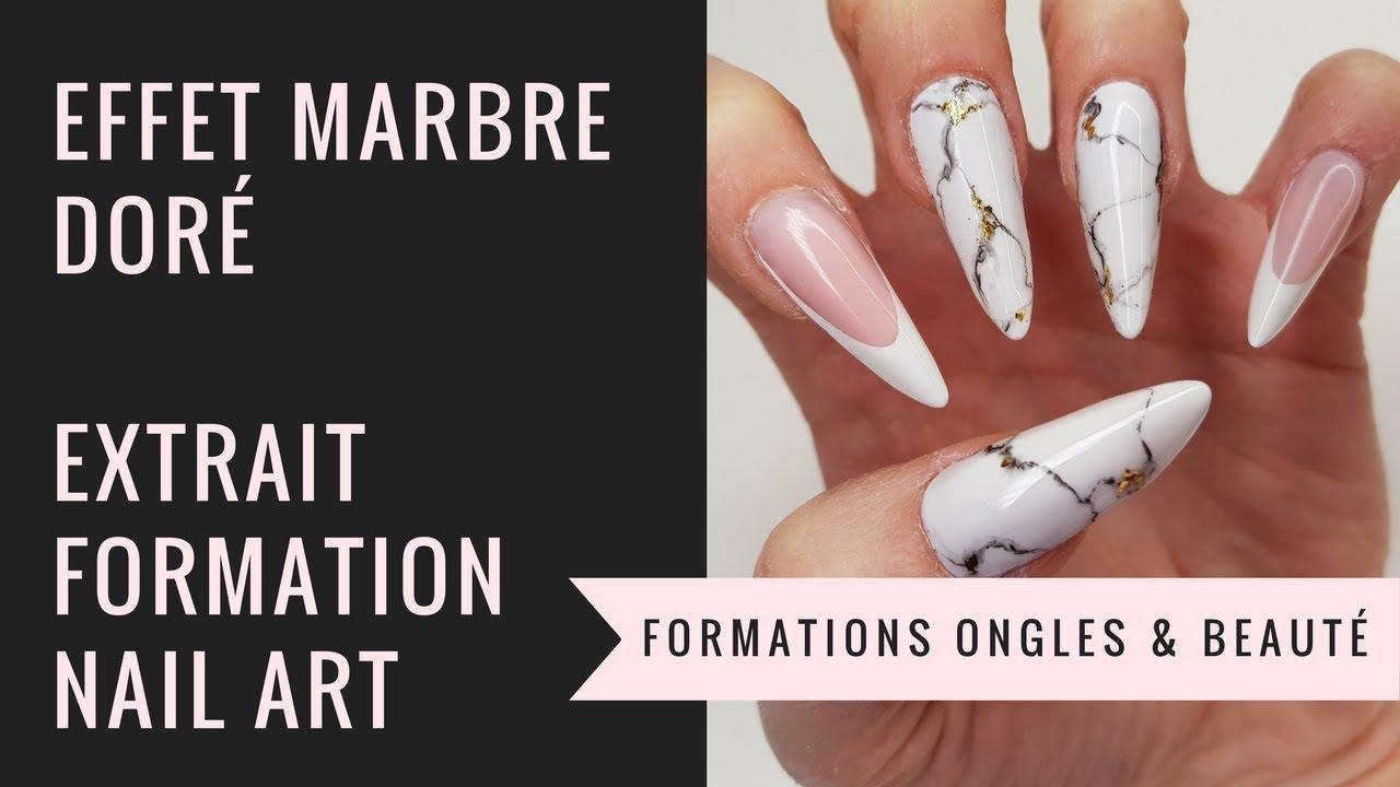 COMMENT FAIRE UN EFFET MARBRE FACILEMENT l Extrait de la formation Nail Art  Yournails International