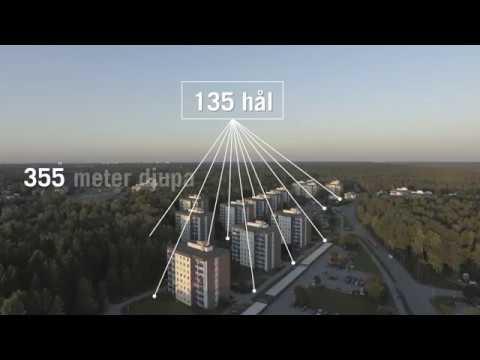 Sveriges största bergvärmeanläggning